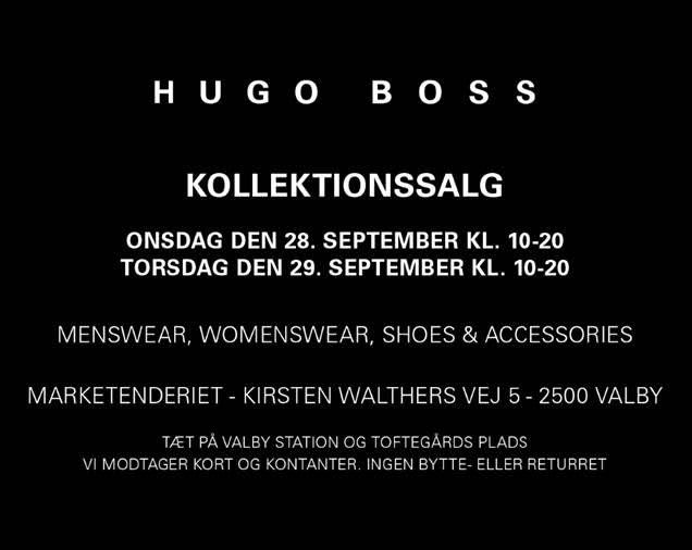 Hugo Boss lagersalg / Outlet / kollektionssalg