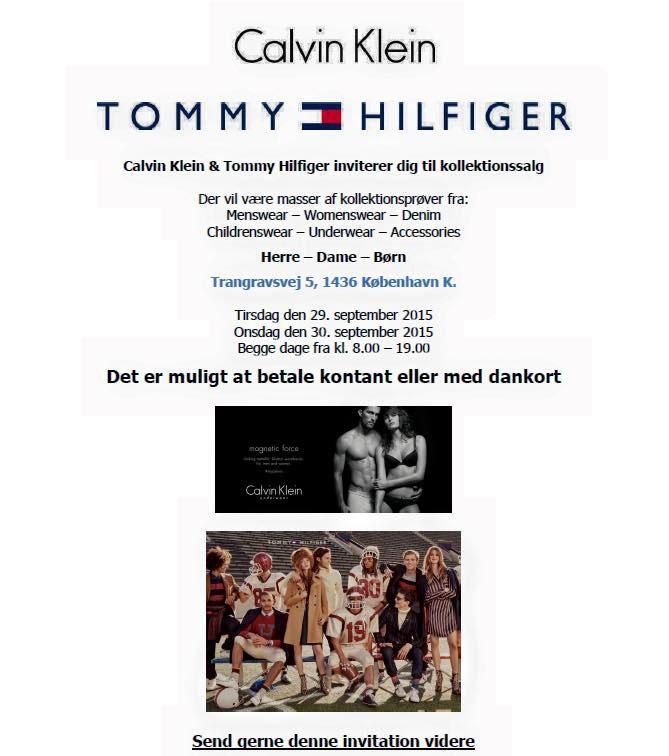 Tommy Hilfiger Lagersalg - outlet