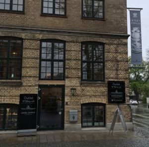 Royal Copenhagen Outlet og Georg Jensen Outlet har indgang fra Søndre Fasanvej